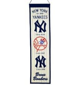 WINNING STREAK SPORTS New York Yankees Heritage Banner