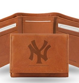 RICO INDUSTRIES New York Yankees Genuine Leather Vintage Trifold Wallet