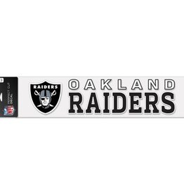 "WINCRAFT Oakland Raiders 4""x17"" Perfect Cut Decals"