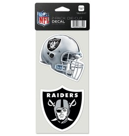 Oakland Raiders Set of Two 4x4 Perfect Cut Decals