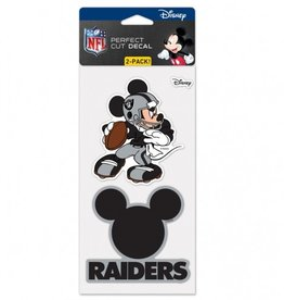 WINCRAFT Oakland Raiders Set of Two DISNEY 4x4 Perfect Cut Decals
