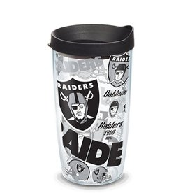 Oakland Raiders 16oz Tervis All Over Print Tumbler