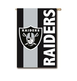 "EVERGREEN Oakland Raiders 28"" x 44"" Striped House Flag"