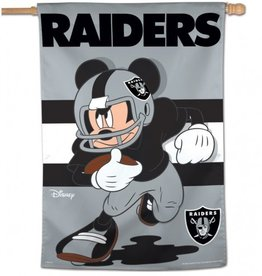 "WINCRAFT Oakland Raiders Disney Mickey Mouse 28"" x 40"" House Flag"