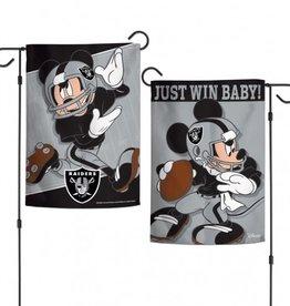 "WINCRAFT Oakland Raiders Disney Mickey Mouse 12.5"" x 18"" Garden Flag"
