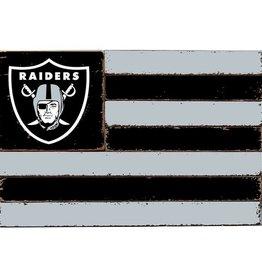 RUSTIC MARLIN Oakland Raiders Rustic Team Flag