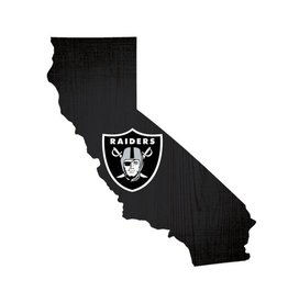 FAN CREATIONS Oakland Raiders Team Logo State Sign