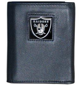 SISKIYOU GIFTS Las Vegas Raiders Executive Black Leather Trifold Wallet