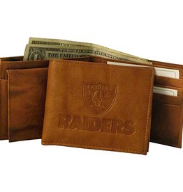 Oakland Raiders Genuine Leather Vintage Billfold Wallet