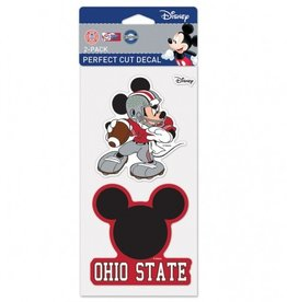 WINCRAFT Ohio State Buckeyes Set of Two DISNEY 4x4 Perfect Cut Decals