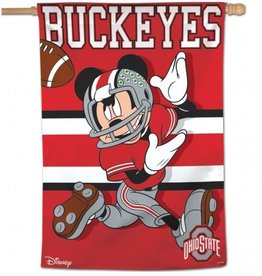 "WINCRAFT Ohio State Buckeyes Disney Mickey Mouse 28"" x 40"" House Flag"
