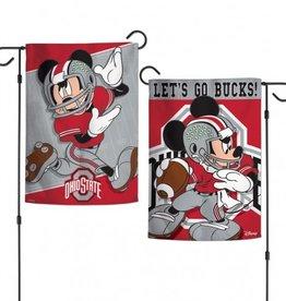 "WINCRAFT Ohio State Buckeyes Disney Mickey Mouse 12.5"" x 18"" Garden Flag"