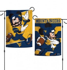 "WINCRAFT West Virginia Mountaineers Disney Mickey Mouse 12.5"" x 18"" Garden Flag"
