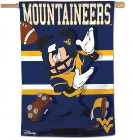 "WINCRAFT West Virginia Mountaineers Disney Mickey Mouse 28"" x 40"" House Flag"