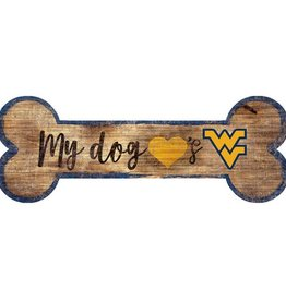 FAN CREATIONS West Virginia Mountaineers Dog Bone Sign