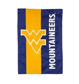 "EVERGREEN West Virginia Mountaineers 28"" x 44"" Striped House Flag"