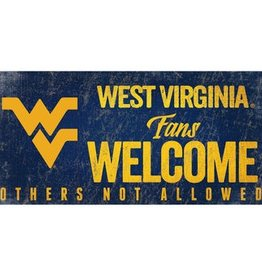 FAN CREATIONS West Virginia Mountaineers Fans Welcome Sign