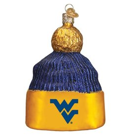 OLD WORLD CHRISTMAS West Virginia Mountaineers Beanie Ornament