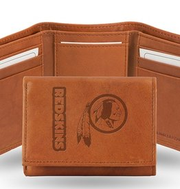 RICO INDUSTRIES Washington Redskins Genuine Leather Vintage Trifold Wallet
