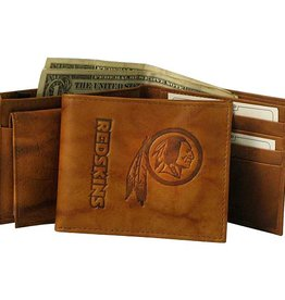 RICO INDUSTRIES Washington Redskins Genuine Leather Vintage Billfold Wallet