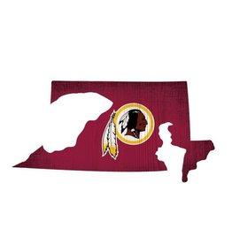 FAN CREATIONS Washington Redskins Team Logo State Sign