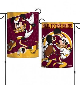 "WINCRAFT Washington Redskins Disney Mickey Mouse 12.5"" x 18"" Garden Flag"