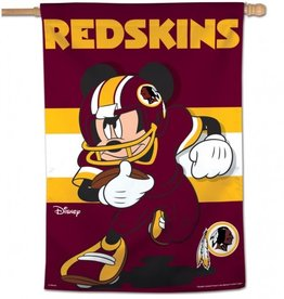 "WINCRAFT Washington Redskins Disney Mickey Mouse 28"" x 40"" House Flag"