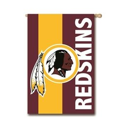 "EVERGREEN Washington Redskins 28"" x 44"" Striped House Flag"