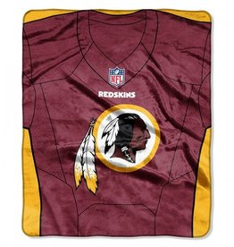 "Washington Redskins 50in x 60in NFL ""Jersey"" Royal Plush Raschel Throw"