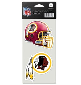Washington Redskins Set of Two 4x4 Perfect Cut Decals