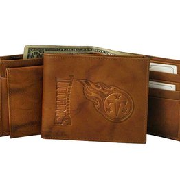 RICO INDUSTRIES Tennessee Titans Genuine Leather Vintage Billfold Wallet