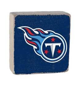 RUSTIC MARLIN Tennessee Titans Rustic Wood Team Block