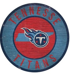 FAN CREATIONS Tennessee Titans Round State Sign