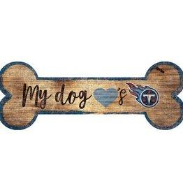 FAN CREATIONS Tennessee Titans Dog Bone Wood Sign