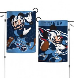 "WINCRAFT Tennessee Titans Disney Mickey Mouse 12.5"" x 18"" Garden Flag"