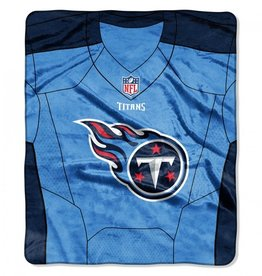 "Tennessee Titans 50in x 60in NFL ""Jersey"" Royal Plush Raschel Throw"