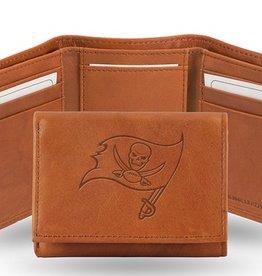 RICO INDUSTRIES Tampa Bay Buccaneers Genuine Leather Vintage Trifold Wallet