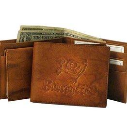 RICO INDUSTRIES Tampa Bay Buccaneers Genuine Leather Vintage Billfold Wallet