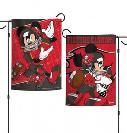 "WINCRAFT Tampa Bay Buccaneers Disney Mickey Mouse 12.5"" x 18"" Garden Flag"