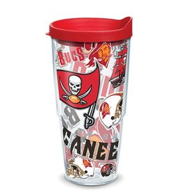 Tampa Bay Buccaneers 24oz Tervis All Over Print Tumbler