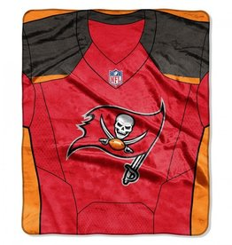 "Tampa Bay Buccaneers 50in x 60in NFL ""Jersey"" Royal Plush Raschel Throw"