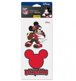 WINCRAFT Tampa Bay Buccaneers Set of Two DISNEY 4x4 Perfect Cut Decals