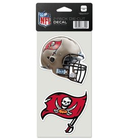 Tampa Bay Buccaneers Set of Two 4x4 Perfect Cut Decals