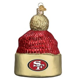 OLD WORLD CHRISTMAS San Francisco 49ers Beanie Ornament