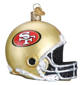 OLD WORLD CHRISTMAS San Francisco 49ers Helmet Ornament