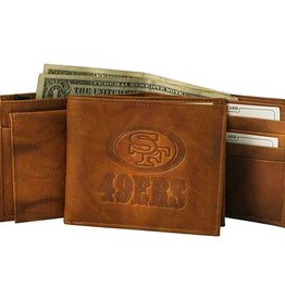 RICO INDUSTRIES San Francisco 49ers Genuine Leather Vintage Billfold Wallet