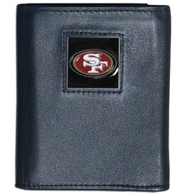 San Francisco 49ers Executive Black Leather Trifold Wallet