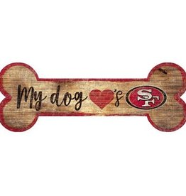 FAN CREATIONS San Francisco 49ers Dog Bone Wood Sign