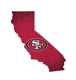 FAN CREATIONS San Francisco 49ers Team Logo State Sign