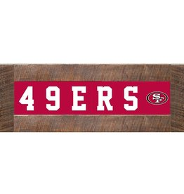 RUSTIC MARLIN San Francisco 49ers Marlin Classic Wood Sign